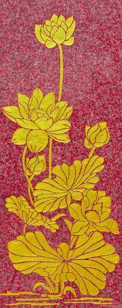 thai believe: Lai Thai, lotus pattern.