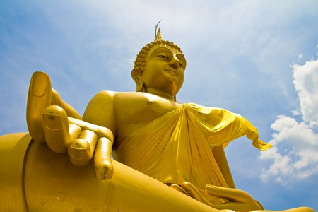 monasteri: Luang Por Yai Buddha, Bangkok, Tailandia.