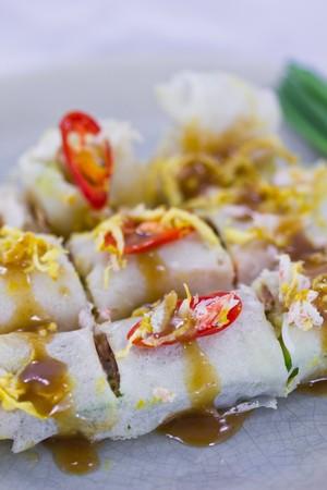 Fresh Spring Rolls, Thai food. photo