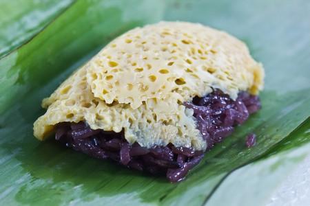 Steamed custard, Thai desert. photo