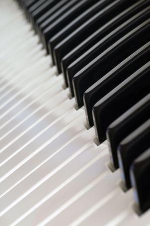 Close-up van witte en zwarte Electric Piano (toetsenbord) Keys Stockfoto