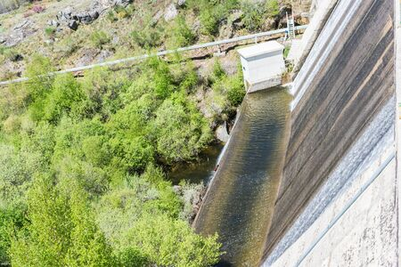 water dam in mountain valley in Portugal in spring Reklamní fotografie