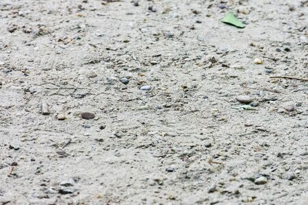 gray ground soil texture with stones and sand