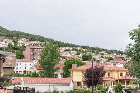 panoramic view of a mountain village in Spain in summer
