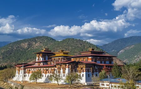 Punakha Dzong Monastery, one of the largest monestary in Asia, Punakha, Bhutan Archivio Fotografico