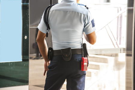 security staff: Security guard Stock Photo