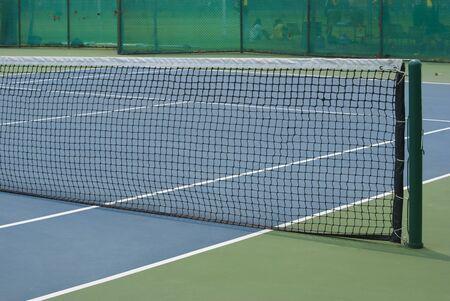 raqueta de tenis: pista de tenis Foto de archivo