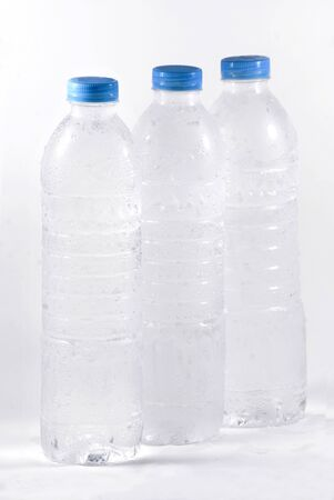 purified water: Stock image of purified water bottle over white background Stock Photo