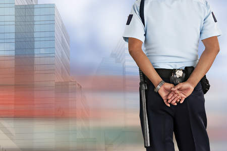 security equipment: Security guard Stock Photo