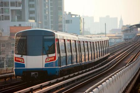 Sky train in Bangkok 免版税图像