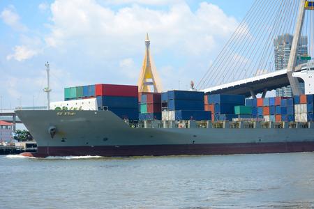 Container ship 免版税图像