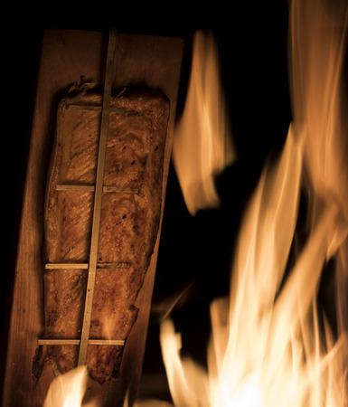 resplandor: Salm�n Blaze Foto de archivo