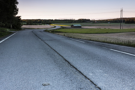 county side: Road in the countryside