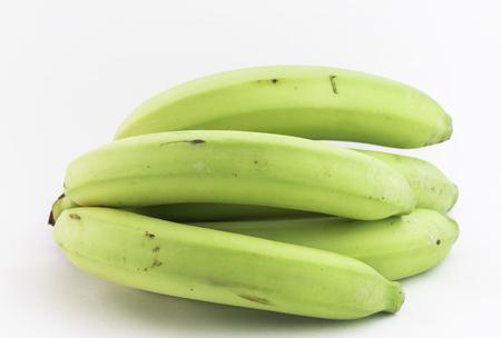 greenish: Fresh greenish bananas Stock Photo