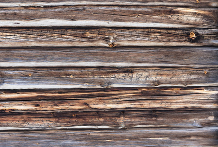 trad: Old wall made of logs Stock Photo