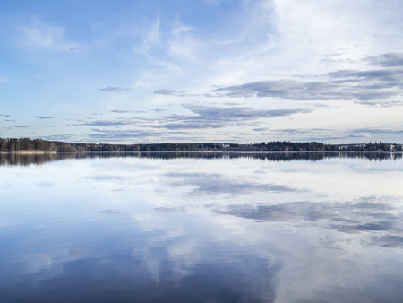 austere: Lake as smooth as a millpond Stock Photo