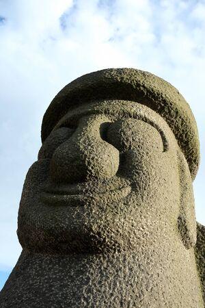 Dol hareubang - symbol of Jeju island, South Korea.