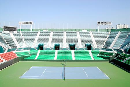 Tennis stadium in Korea Olympic Park. Redactioneel