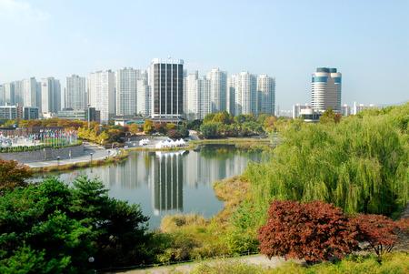 Olympic Park Landscape in Korea. Redactioneel