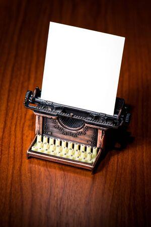 A miniature typewriter