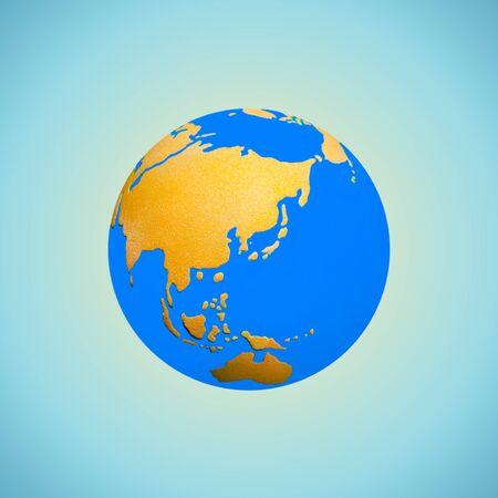 Een blauwe wereldbol Stockfoto