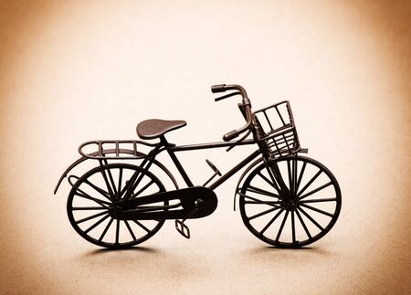 A miniature bicycle