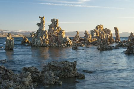 owens valley: tufa formations on Mono Lake in the Owens Valley of California