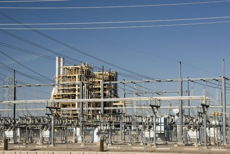 electric grid: Ocotillo Power Plant in Phoenix, Arizona. fall 2007