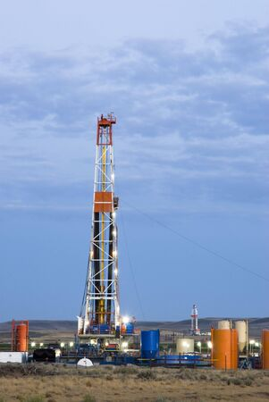 new oil and gas drilling activity in Wyoming Stock Photo - 4829493