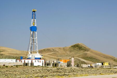 new oil and gas drilling activity in Wyoming 版權商用圖片