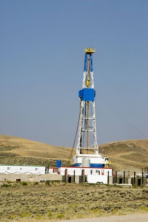 new oil and gas drilling activity in Wyoming Stock Photo