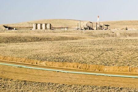 Nuova perforazione del petrolio e del gas in Wyoming Archivio Fotografico - 4829510