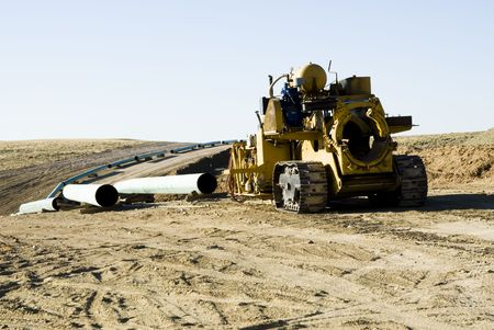 equipment: pipeline construction for new oil and gas drilling activity in Wyoming