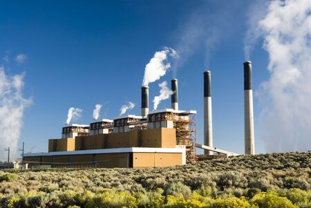 electric grid: a coal fired  electric power plant in Wyoming