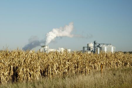 An ethanol production plant in South Dakota. Stock Photo