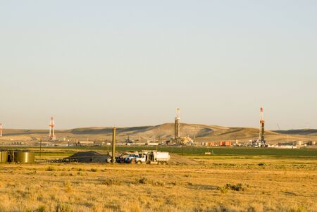 new oil and gas drilling activity in Wyoming Stock Photo - 4950507