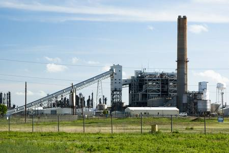 conveyors: a coal fired power plant for producing electricity