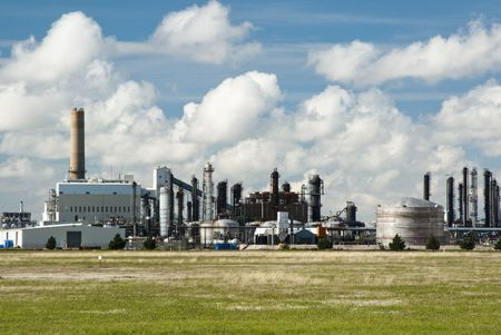a refinery for producing chemical products Stock Photo