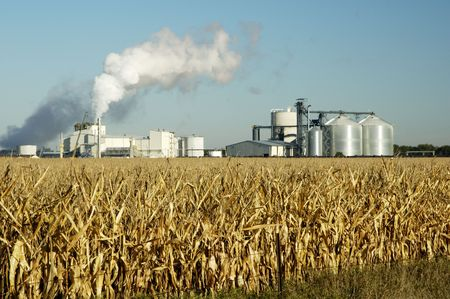 Een ethanol fabriek in Zuid-Dakota. Stockfoto
