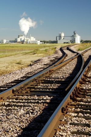 An ethanol production plant in South Dakota. Reklamní fotografie