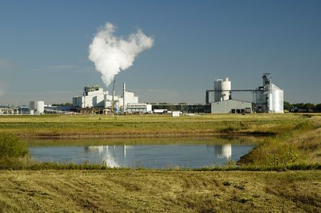 sioux: An ethanol production plant in South Dakota. Stock Photo