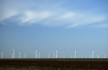 Wind turbines near White Deer, Texas. Stock Photo - 4992645