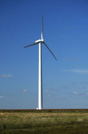 Wind turbine near White Deer, Texas. photo