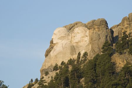 honest abe: Early morning view of Mount Rushmore National Monument in the Black Hills of South Dakota.