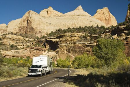 recreational vehicle touring Capital Reef national Park in Utah