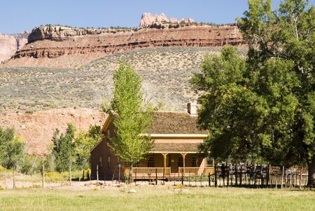 a house in the historic ghost town of Grafton