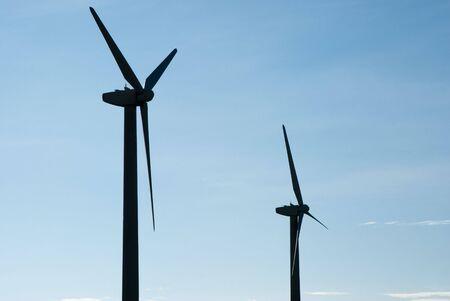 wind turbines on a wind farm in Texas photo