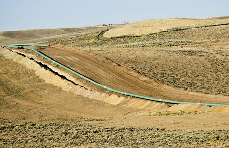 pipeline construction through a gas field in Wyoming Reklamní fotografie