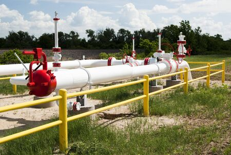 flanges: a pipeline for the distribution of natural gas