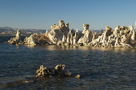 sierras: tufa formations on Mono Lake in the Owens Valley of California